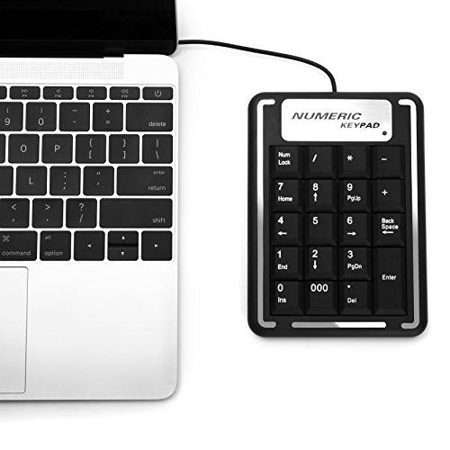 Gvdv Portable Slim USB Mini Numeric KeyPad Number Keyboard