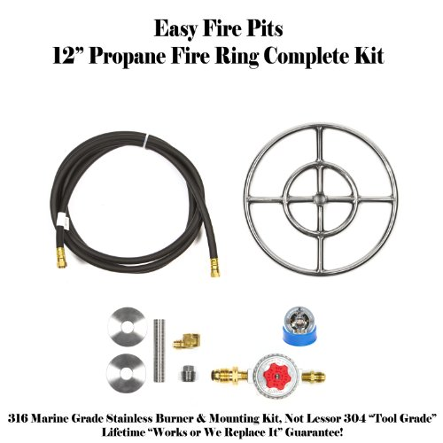 Convert Your Wood Fire Pit To Propane Diy Propane 12 Fire Pit Kit