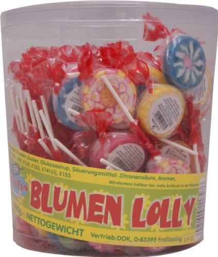 Blumen Lolly 100 Stück (einzeln verpackt in der Dose)