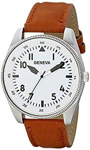 Geneva Men's 1673D-GEN Digital Display Quartz Brown Watch