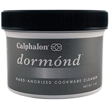 It's like a face-lift for your hard-anodized pans! Apply Dormond cleanser periodically to restore hard-anodized surfaces to their smooth, matte, like-new appearance.