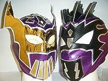 Sin Cara & Kalisto-The Lucha Dragons para Niños con cremallera Lucha Libre Máscaras, color morado