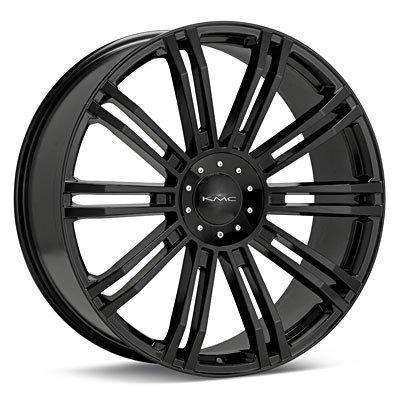 19 Inch Kmc D2 Gloss Black Wheels 19X8.5 Kmc Rims Bp:5X112