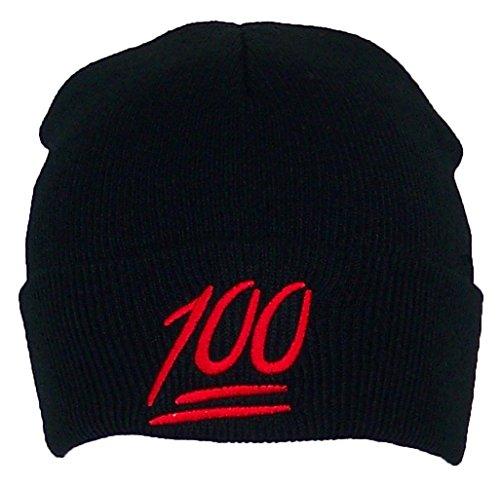 Best Winter Hats Kids Emoji 100 Symbol Cuffed Beanie (One Size ... fb0c6c8530d
