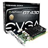 Evga GeForce GT 430 1024 MB DDR3 PCI Express 2.0 DVI/HDMI/VGA Graphics Card, 01G-P3-1430-LR