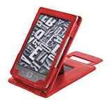 Duragadget Genuine Leather Case & Cover With Stand for Kindle - Red