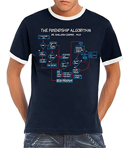 touchlines-t-shirt-the-friendship-algorithm-bleu-xxxl