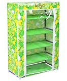 Bulfyss Home Living 6 To 7 Layer Multipurpose Portable Foldable Shoe Rack With Cover (Random Design)