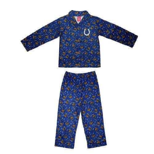 2 PCS SET: NFL Indianapolis Colts Boys Or Girls Fleece Sleepwear Pajama Top & Pants Set
