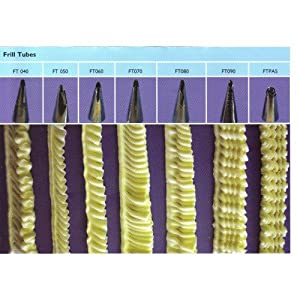 Different Basket Weave Cake Tip Sizes