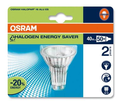 Osram 42120B1 Halopar 16 Energy Saver GU10 Alu 35° 64823 ES Halogenlampe Reflektorform 40W/230V