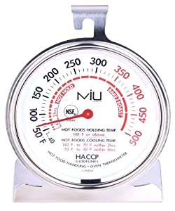 MIU France Stainless Steel Commercial Oven Thermometer by MIU France