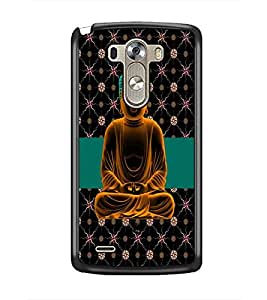 PrintDhaba Lord Buddha D-5629 Back Case Cover for LG G3 (Multi-Coloured)