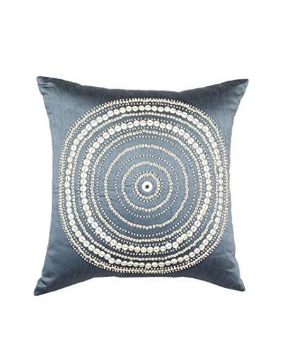 Bandhini Homewear Design Bulls Eye Throw Pillow, Navy/White