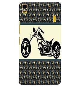 Fuson 3D Printed Bike Designer back case cover for Lenovo K3 Note - D4385