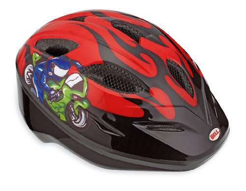 Bell Dart Youth Bicycle Helmet, Red Moto GP Flames
