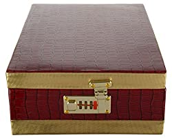 Isnh Brown Wooden Jewellery Box (Sn-J-002)