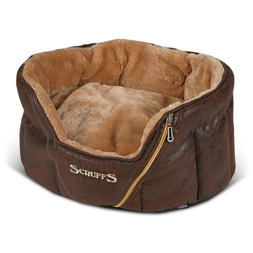 Scruffs Ranger Donut Pet Bed, Antique Brown, 46cm