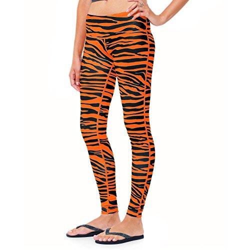 Team Tights Women's Leggings Medium Orange and Black