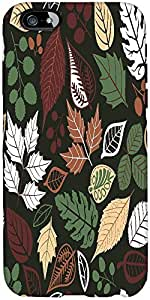 Snoogg seamless pattern with leaf copy that square to the side and youll get seaml Hard Back Case Cover Shield For Apple Iphone 6 S / 6s