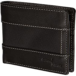 Access Denied Mens Ballistic Leather RFID Blocking Wallet Slim Flip-Up ID