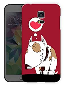 "Humor Gang Dog In Red Heart Printed Designer Mobile Back Cover For ""Samsing Galaxy S5"" (3D, Matte, Premium Quality Snap On Case)"