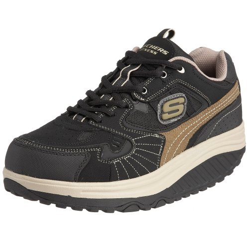 skechers sport men 39 s shape ups regimen lace up black brown. Black Bedroom Furniture Sets. Home Design Ideas