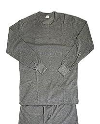 Debra Weitzner Men\'s Thermal Crew Neck Top and Long Johns Underwear Set