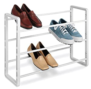 Whitmor 6023-588 Stacking Shoe Rack, 9-Pair