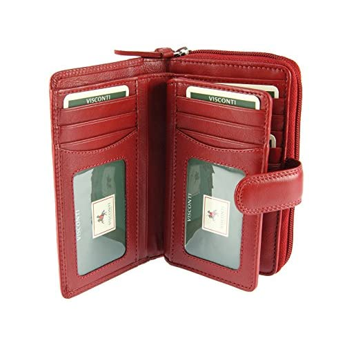 Visconti Ladies Women's Large Multi Compartment Soft Leather Purse   Wallet - HT33