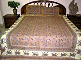 3pc Bedspread Sofa Throw King Sized Indian Cotton Bedding
