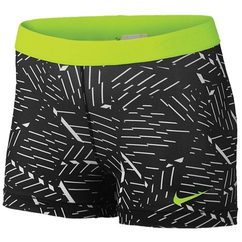 Nike Womens Printed Stretch Compression Shorts Black XXS