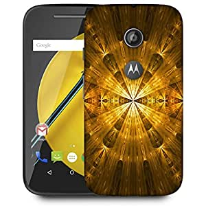Snoogg Yellow Abstract Pattern Designer Protective Back Case Cover For MOTOROLA E2