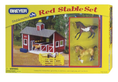 Breyer Stablebates Red Stable Set