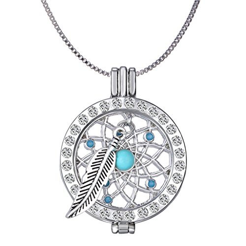 New Arrival Luxury Commemorate Coin Locket Pendant Necklace - Dreamcatcher