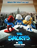 THE SMURFS IN 3D : ORIGINAL D/S ONE SHEET CINEMA POSTER