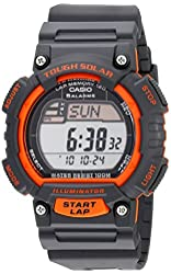 """Casio Men's STL-S100H-4AVCF """"Tough Solar"""" Stainless Steel Fitness Watch with Black Resin Band"""