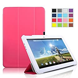 IVSO Acer Iconia Tab 10 A3-A20 Ultra Lightweight Slim Smart Cover Case with Auto Sleep/Wake Function -will only fit Acer Iconia Tab 10 A3-A20 Tablet (Rose)