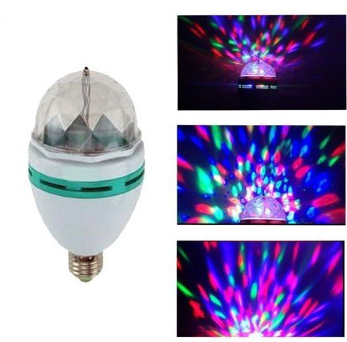 Thg Led Bulb Rgb Lamp Light 3W E27 Full Color Colorful Mini Stage Home Gathering Party Automatic Auto Rotating front-465240