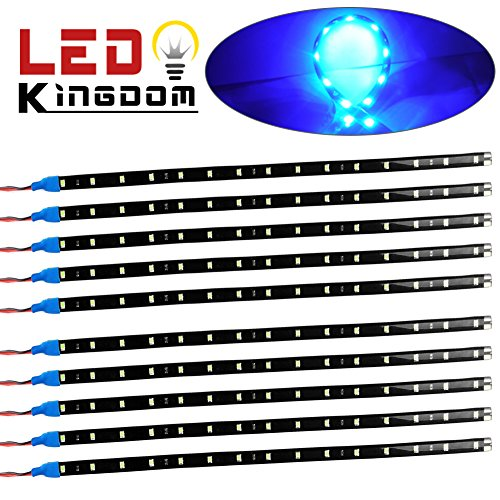 LEDKINGDOMUS 10x Flexible Strip 30cm 15 LED Ice Blue Car Truck Motorcycle Light Waterproof 12V (Ice Blue Motorcycle Lights compare prices)