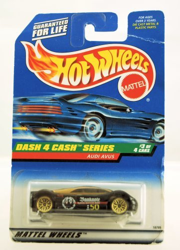 Hot Wheels - 1997 - Dash 4 Cash Series - Audi Avus - Black & Gold - #3 of 4 cars - Collector #723 - Limited Edition - Collectible 1:64 Scale