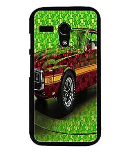 PrintDhaba Car D-3421 Back Case Cover for MOTOROLA MOTO G (Multi-Coloured)