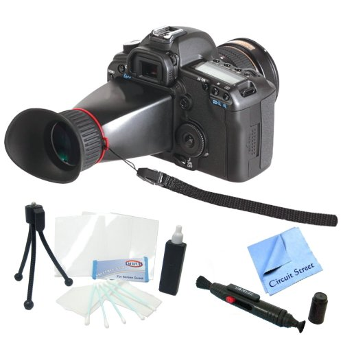 Professional Lcd Viewfinder Kit For Nikon D3100, D3200, D5100, D5200 Digital Slr Cameras. Also Includes Cleaning Kit, Lcd Screen Protectors & Cs Microfiber Cleaning Cloth