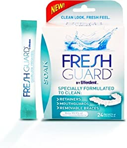 Fresh Guard Soak Specially Formulated for Retainers Mouthguards and Removable Braces,... by Fresh Guard