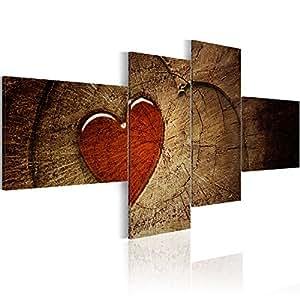 200x90 cm ! Grand Format Impression sur toile Images 4 Parties abstraction Tableau 051505 200x90 cm B&D XXL