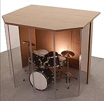 "Hot Sale Drum Booth - Drum Enclosure - Drum Shield ""Silencer"" Studio 6 Black with Door"