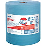 Wypall X80 Reusable Wipes (41043), Extended Use Wipers Jumbo Roll, Blue, 475 Sheets / Roll; 1 Roll / Case