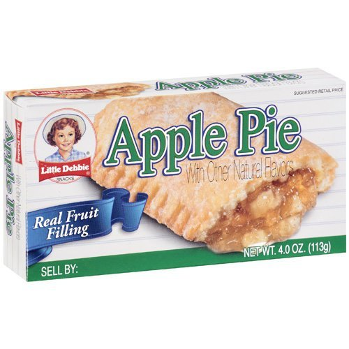 Little Debbie Apple Fruit Pies 4 oz Individually Packaged (6 Pack)
