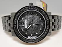 New Ladies Jojino Genuine Real Black Diamond Watch MJ-1046B