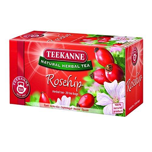Teekanne Rosehip Natural Herbal Tea, 20 Tea Bags (Pack Of 12)
